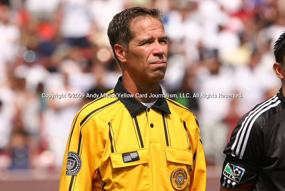 09 August 2009: Assistant Referee Rob Fereday (USA). Real Madrid of Spain's La Liga defeated DC United of Major League Soccer 3-0 at FedEx Field in Landover, Maryland in an international club friendly soccer match.