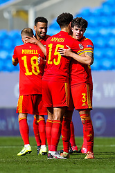 Ethan Ampadu of Wales congratulates match winner Neco Williams after his injury time goal gives Wales a 1-0 victory - Rogan/JMP - 06/09/2020 - FOOTBALL - Cardiff City Stadium - Cardiff, Wales - Wales v Bulgaria - UEFA Nations League Group B4.