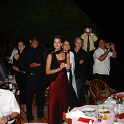Miss Nederland 2003 reis Turkije, diner aan zee, hotel