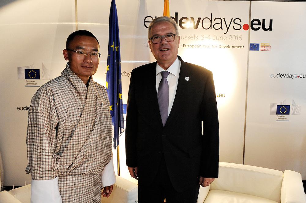 20150604- Brussels - Belgium - 04 June2015 - European Development Days - EDD  - Tshering Tobgay PM of Buthan and Neven Mimica Defco  © EU/UE
