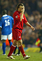 Photo: Scott Heavey.<br />Birmingham City v Middlesbrough. FA Barclaycard Premiership. 03/03/2004.<br />Bolo Zenden trudges off after seeing the red card