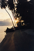 Sunset on the beach - Nias, Indonesia <br /> <br /> Editions:- Open Edition Print / Stock Image