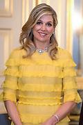 Officieel bezoek Jordanie aan Nederland - Dag 1<br /> <br /> Officiele foto voorafgaand aan het staatsdiner <br /> <br /> Official visit Jordan to the Netherlands - Day 1<br /> <br /> Official photo prior to the state dinner<br /> <br /> Op de foto / On the photo: <br /> <br />   koningin Maxima ///  Queen Maxima
