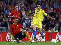 Fotball<br /> Belgia<br /> EM-kvalifisering<br /> Belgia v Kasakhstan<br /> 16.08.2006<br /> Foto: PhotoNews/Digitalsport<br /> NORWAY ONLY<br /> <br /> TIMMY SIMONS - NIKITA KHOKHLOV