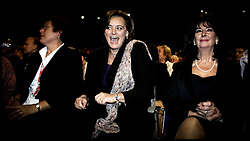 Cherie Blair  and the Deputy Prime Minister John Precott's wife Pauline singing  after John Precott's closing speech to the Labour Party Conference PRESS ASSOCIATION Photo. Picture date:Thursday 28th September , 2006. Photo credit should read: Andrew Parsons/PA.