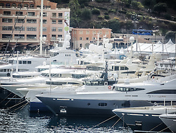 September 24, 2016 - Monaco, Monaco - Monaco prepares for the the 26th Monaco Yacht Show with some 125 of the most desirable superyachts from around the world on display between 28 September and 1 October. The Monaco Yacht Show is held in Port Hercules, and is Europe's biggest in-water display of superyachts. (Credit Image: © Hugh Peterswald/Pacific Press via ZUMA Wire)