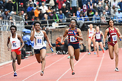 April 27, 2018 - Philadelphia, Pennsylvania, U.S - Notre Dame, University of Penn, and others  in action during the CW 4x100 qualifying heats at the 124th running of the Penn Relays at Franklin Field in Philadelphia PA (Credit Image: © Ricky Fitchett via ZUMA Wire)