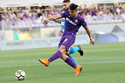 April 29, 2018 - Florence, Florence, Italy - 29th April 2018, Stadio Artemio Franchi, Florence, Italy; Serie A Football, Fiorentina versus Napoli; Giovanni Pablo Simeone of Fiorentina shoots and scores a goal in the 34th minute  Credit: Giampiero Sposito/Pacific Press (Credit Image: © Giampiero Sposito/Pacific Press via ZUMA Wire)