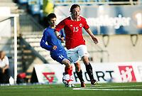 Fotball , 28. april 2011 , Norge - Moldova<br /> U19<br /> Word cup qual.<br /> Norway - Moldova<br /> <br /> Fredrik Haugen   , Norge<br /> Vasile Matei , Moldova
