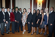 l to r: Shane Ward, Shawn Ward, Marcus Samuelsson, Noel Hankin, Guest, Vivica A. Fox, Andrew Glaser, Guest, Tiffanny Warren, Arva Rice, Katrina Peeples and  R. Donahue Peeples at The 2009 NV Awards: A Salute to Urban Professionals sponsored by Hennessey held at The New York Stock Exchange on February 27, 2009 in New York City. ....