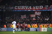 FOOTBALL - CHAMPIONS LEAGUE 2010/2011 - GROUP STAGE - GROUP G - AJ AUXERRE v MILAN AC - 23/11/2010 - JOY RONALDINHO AFTER HIS GOAL - PHOTO FRANCK FAUGERE / DPPI