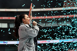 Demi Lovato performs on stage during Capital's Summertime Ball with Vodafone at Wembley Stadium, London.