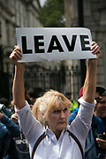 Anti-Brexit march and rally on 2nd July 2016 in London, United Kingdom. 48 percent of voters wanted to stay n the EU and now feel disenfranchised and cheated on and many want a second referendum.