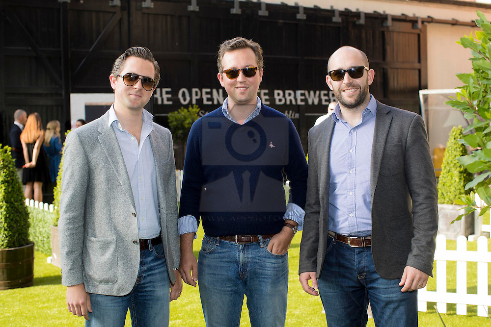 """Repro Free: 08/06/2016 Tom Maxwell, Andrew Maxwell, Ross Condron pictured at 'Taste of Beer', a beer and food pairing experience at The Open Gate Brewery featuring some of Ireland's top artisan food producers who are exhibiting at Taste of Dublinnext week, Thursday16th- 19th June. Asia Supermarket, Culcow,The Cupcake Bloke, The Little Milk Company, The Natural Bakery and Simon Lamont each created dishes taking inspiration from the experimental brews at The Open Gate Brewery including Strawberry Porter which was created by brewer, Feodora Heavey especially for Taste of Dublin as well as Chocolate & Vanilla Stout, 1516 Anniversary Pilsner, Tropical IPA, Antwerp Export, Nitro IPA and Guinness Golden Ale.<br /> <br /> Pic: Andres Poveda  <br /> <br /> Over 18s Only. Drink Guinness responsibly. Visit drinkaware.ie"""""""