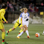 Allie Long, USA, in action during the USA Vs Colombia, Women's International friendly football match at the Pratt & Whitney Stadium, East Hartford, Connecticut, USA. 6th April 2016. Photo Tim Clayton
