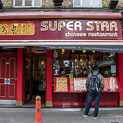 Super Star in London Chinatown Sweet Tooth Cafe and Restaurant at Newport Court and Garret Street on 15 June 2019, UK.