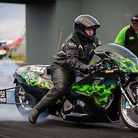 Ross Garrett (1304) on his Kawasaki Modified Bike.