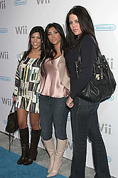 Nov 18, 2006; Los Angeles, CA, USA;  Actress KIM KARDASHIAN and sisters COURTNEY (L) and CHLOE  at the Nintendo Launches Wii Party. The Revolutionary Home Video Game Console. The Party was held at Club Boulevard 3 in Hollywood on the 16th November. Mandatory Credit: Photo by Paul Fenton/ZUMA KPA.. (©) Copyright 2006 by Paul Fenton