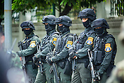 23 MAY 2014 - BANGKOK, THAILAND:  Thai commandos on duty in Bangkok. The Thai military seized power in a coup Thursday evening. They suspended the constitution and ended civilian rule. This is the 2nd coup in Thailand since 2006 and at least the 12th since 1932.   PHOTO BY JACK KURTZ
