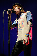 Christofer Drew of Never Shout Never performing in concert at the Pageant in St. Louis, MO on November 6, 2011.