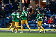 1-1, goal celebration by Josh Harrop of Preston North End  during the EFL Sky Bet Championship match between Blackburn Rovers and Preston North End at Ewood Park, Blackburn, England on 11 January 2020.