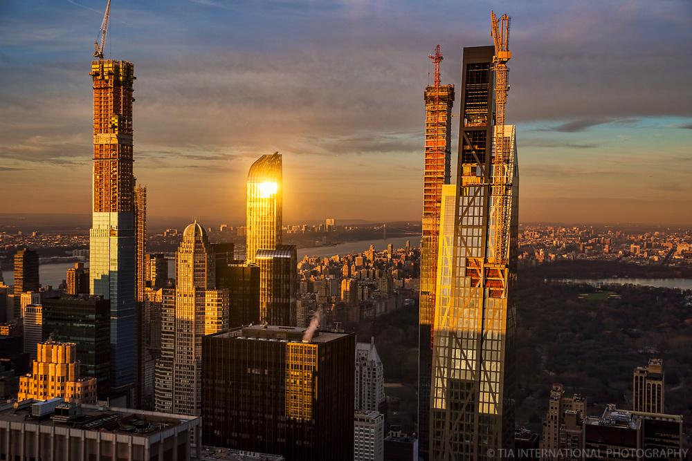Billionaires' Row & Central Park @ Sunset