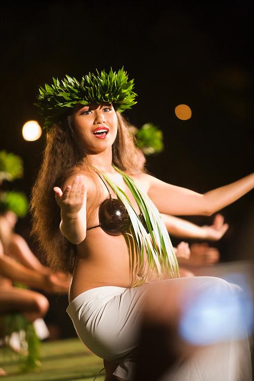 Dancers at the Old Lahaina Luau, Lahina, Maui, Hawaii