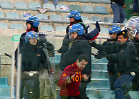 Roma 5 Febbraio 2003 - Coppa Italia<br />Lazio-Roma 1-2 <br />Engagements between Fans and police before the match