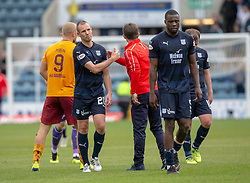 Dundee's Kenny Miller and Dundee's manager Neil McCann att the end. Dundee 1 v 3 Motherwell, SPFL Ladbrokes Premiership game played 1/9/2018 at Dundee's Kilmac stadium Dens Park