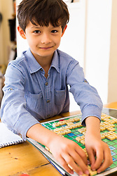 Josh, 8, is the World Under Eight Scrabble Champion. Brothers Reuben and Josh Moisey are top level Scrabble Champions with 11 year-old Reuben crowned European Youth Scrabble Champion and 8 year-old Josh became World Under Eight Scrabble Champion in Dubai in 2018. London, August 15 2019.