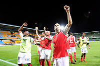 FOOTBALL - FRENCH LEAGUE CUP 2010/2011 - 1ST ROUND - ES TROYES v STADE DE REIMS - 30/07/2010 - PHOTO GUILLAUME RAMON / DPPI - JOY OF REIMS AFTER THE MATCH