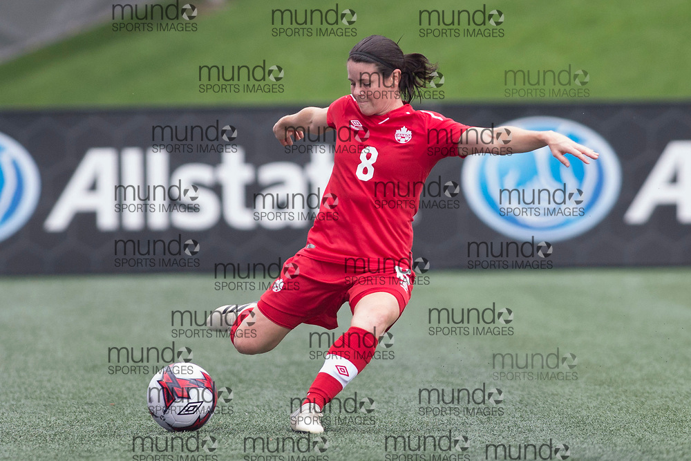 OTTAWA, ON - September 2: Diana Matheson (8 -- M) of Canada in an international FIFA women's friendly soccer match between Canada and Brazil at TD Place Stadium in Ottawa, Canada, September 2, 2018. Canada defeated Brazil 1-0. (Photo by Sean Burges/Mundo Sport Images)