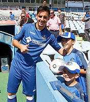 Getafe's new player Paul Anton during his official presentation. August 4, 2016. (ALTERPHOTOS/Acero)