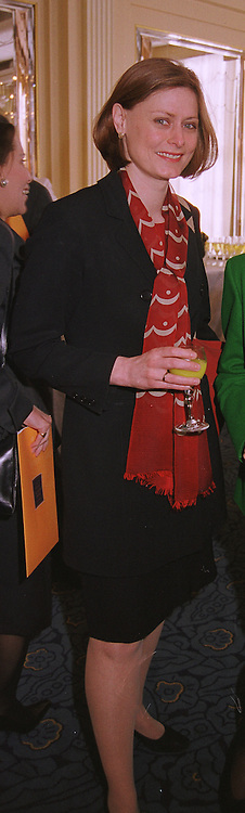 MISS SARAH MACAULAY fiancee of Gordon Brown MP., at a reception in London on 29th April 1999.MRM 36 wolo