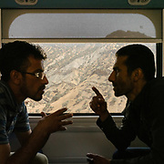 Train ride from Andimeshk, Khorestan Province to Dorud city, Lorestan province, across the Zagros mountains a long mountain range that has a total length of 1,600 km (990 mi). The Zagros mountain range begins in northwestern Iran and roughly follows Iran's western border, while covering much of southeastern Turkey and northeastern Iraq.<br /> <br /> Travelling over 4000km by train across Iran. An opportunity to enjoy Persian hospitality, discover Iran's ancient cities and its varied landscapes, from deserts to mountains.