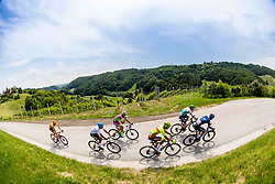 Leaders during 1st Stage of 27th Tour of Slovenia 2021 cycling race between Ptuj and Rogaska Slatina (151,5 km), on June 9, 2021 in Sports park Kranj, Kranj, Slovenia. Photo by Vid Ponikvar / Sportida