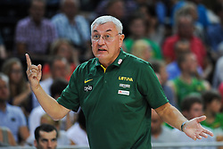 Jonas Kalauskas, head coach of Lithuania during friendly match between National Teams of Slovenia and Lithuania before World Championship Spain 2014 on August 18, 2014 in Kaunas, Lithuania. Photo by Robertas Dackus / Sportida.com