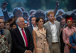 July 17, 2018 - London, London, United Kingdom - Image licensed to i-Images Picture Agency. 17/07/2018. London, United Kingdom. The Duke and Duchess of Sussex  at the Nelson Mandela exhibition in London. (Credit Image: © Pool/i-Images via ZUMA Press)