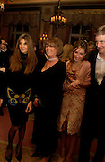 Jemima Khan, Lady Annabel Goldsmith, Zac Goldsmith and Mrs. Zac, ( Sheherazade)  Goldsmith. Annabel, An Unconventional Life. Memoirs of Lady Annable goildsmith. The Ritz. 10 March 2004. ONE TIME USE ONLY - DO NOT ARCHIVE  © Copyright Photograph by Dafydd Jones 66 Stockwell Park Rd. London SW9 0DA Tel 020 7733 0108 www.dafjones.com