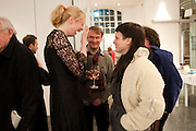 GWENDOLINE CHRISTIE; NATHANIEL MELLORS; LILIANA SANGUINO, Ourhouse Nathaniel Mellors opening. ICA. The Mall. London. 8 March 2011. -DO NOT ARCHIVE-© Copyright Photograph by Dafydd Jones. 248 Clapham Rd. London SW9 0PZ. Tel 0207 820 0771. www.dafjones.com.