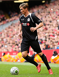 Fernando Torres attacks for the Gerrard XI  - Photo mandatory by-line: Dougie Allward/JMP - Mobile: 07966 386802 - 29/03/2015 - SPORT - Football - Liverpool - Anfield Stadium - Gerrard's Squad v Carragher's Squad - Liverpool FC All stars Game