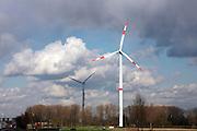Belgium, Bruges, Modern Wind Turbine