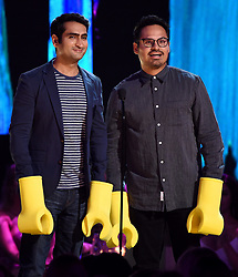 LOS ANGELES - AUGUST 13: L-R: Kumail Nanjiani and Michael Peña onstage at FOX's 'Teen Choice 2017' at the Galen Center on August 13, 2017 in Los Angeles, California. (Photo by Frank Micelotta/FOX/PictureGroup) *** Please Use Credit from Credit Field ***