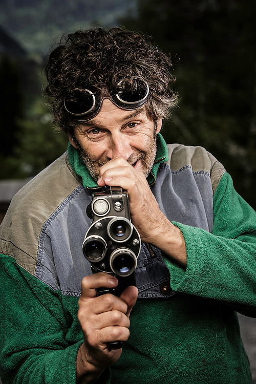 Didier Lafond poses for a portrait during the filming of the Unrideables in Chamonix, France on May 23rd, 2014.