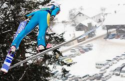 Sarah Hendrickson of US of America during Normal Hill Individual Competition at FIS World Cup Ski jumping Ladies Ljubno 2012, on February 12, 2012 in Ljubno ob Savinji, Slovenia. (Photo By Grega Valancic / Sportida.com)