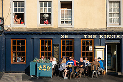 Evening summer sunshine on The King's Park pub on  The Shore  in Leith, Edinburgh, Scotland, UK