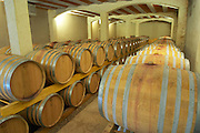 Clos Bagatelle St Chinian. Languedoc. Barrel cellar. France. Europe.