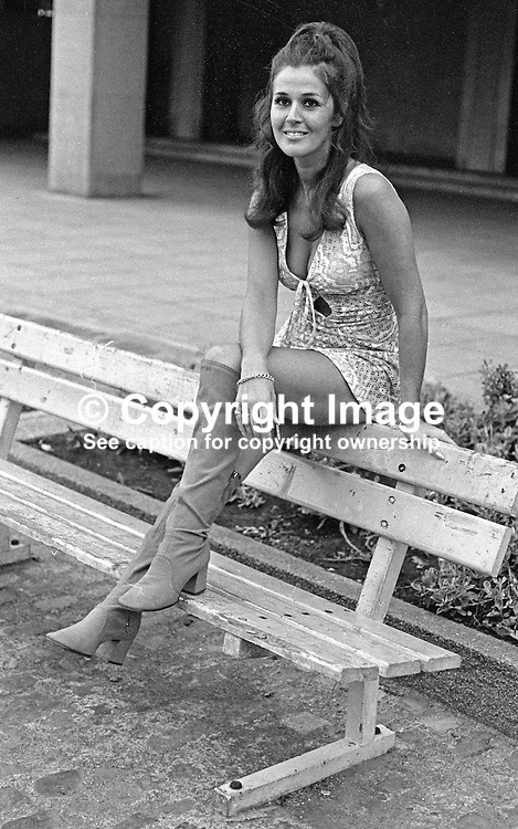 Susan Knowles, aka Susan Riddell, native of Londonderry, N Ireland, Miss Ireland 1958. Susan now (2012) lives in Newbury, Berkshire with husband, Arnie Knowles. She has five grandchildren. 19700900324SK2.<br /> <br /> Copyright Image from Victor Patterson, Belfast, UK<br /> <br /> t: +44 28 9066 1296 (from Rep of Ireland 048 9066 1296)<br /> m: +44 7802 353836<br /> e: victorpattersonbelfast@gmail.com<br /> <br /> www.images4media.com<br /> <br /> Please see my full Terms and Conditions of Use at https://www.images4media.com/p/terms-conditions - it is IMPORTANT that you familiarise yourself with them.<br /> <br /> Images used online incur an additional cost. This cost should be agreed in writing in advance. Online images must be visibly watermarked i.e. © Victor Patterson or that of the named photographer within the body of the image. The original metadata must not be deleted from images used online.<br /> <br /> This image is only available for the use of the download recipient i.e. television station, newspaper, magazine, book publisher, etc, and must not be passed on to a third party. It is also downloaded on condition that each and every usage is notified within 7 days to victorpattersonbelfast@gmail.com.<br /> <br /> The right of Victor Patterson (or the named photographer) to be identified as the author is asserted in accordance with The Copyright Designs And Patents Act (1988). All moral rights are asserted.