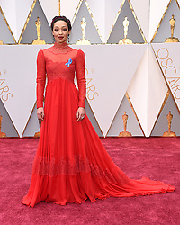 Feb 26, 2017 - Hollywood, California, U.S. - RUTH NEGGA during red carpet arrivals for the 89th Academy Awards ceremony. Celebrities took to the red carpet wearing blue ribbons to show their support for the American Civil Liberties Union. (Credit Image: © Lisa O'Connor via ZUMA Wire)