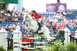 Candin Andy, (ROU), Caruso<br /> Team Competition round 1 and Individual Competition round 1<br /> FEI European Championships - Aachen 2015<br /> © Hippo Foto - Stefan Lafrentz<br /> 19/08/15